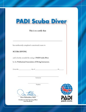 open water diving certification